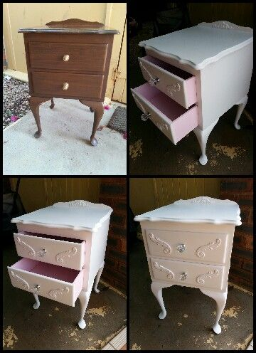 My first chalk paint project, finished with L'essentiel Beeswax Polish. :)