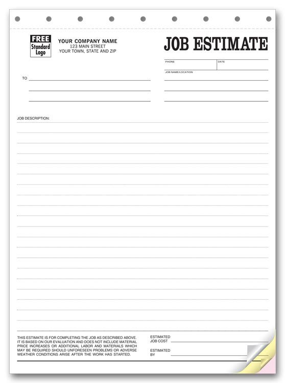 Printable Blank Bid Proposal Forms  Printable Quote Template