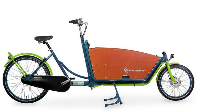 WorkCycles Kr8 Ocean Blue Apple Green by henry in a'dam, via Flickr