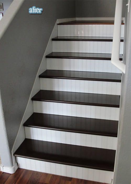 beadboard facing on stairs