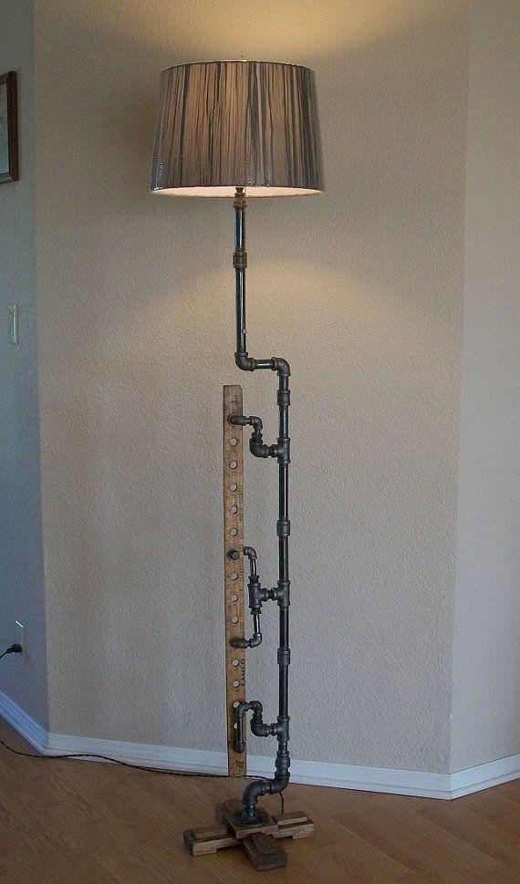 Industrial Art Floor Lamp One Of A Kind Measuring Yard
