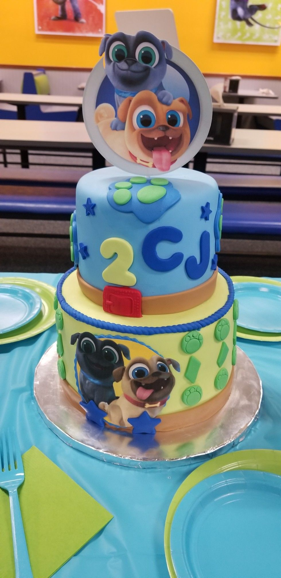 Two Tier Custom Puppy Dog Pal Cake Inspiration This Cake Was