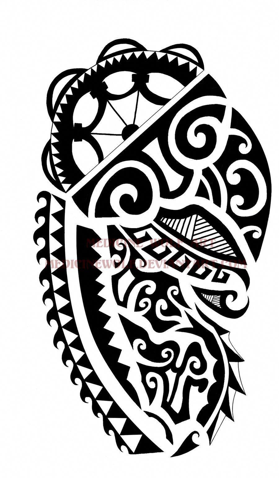 samoan tattoos design lion on paper Samoantattoos