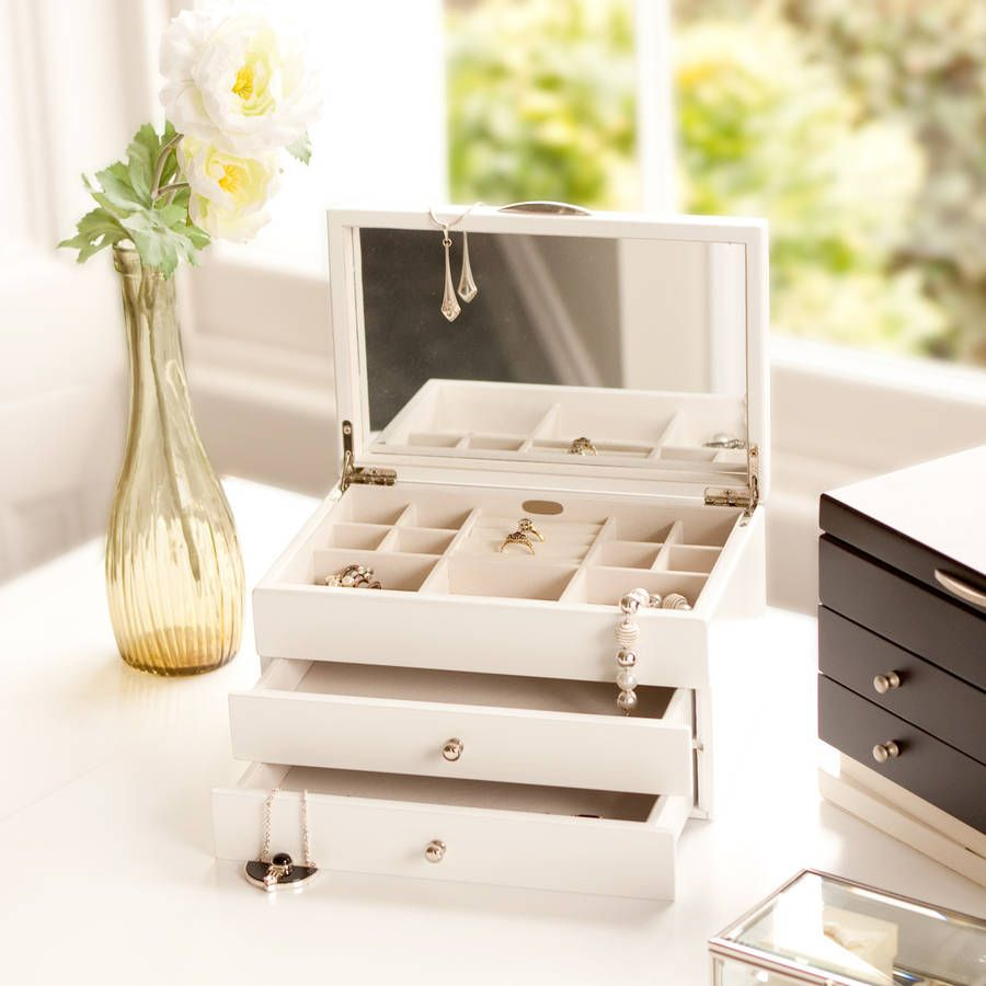 White Wooden Jewellery Box Cool Or Useful Things Pinterest
