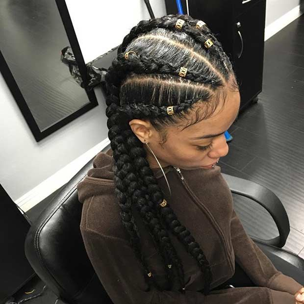 31 Cornrow Styles to Copy for Summer | Cornrow, Extensions ...