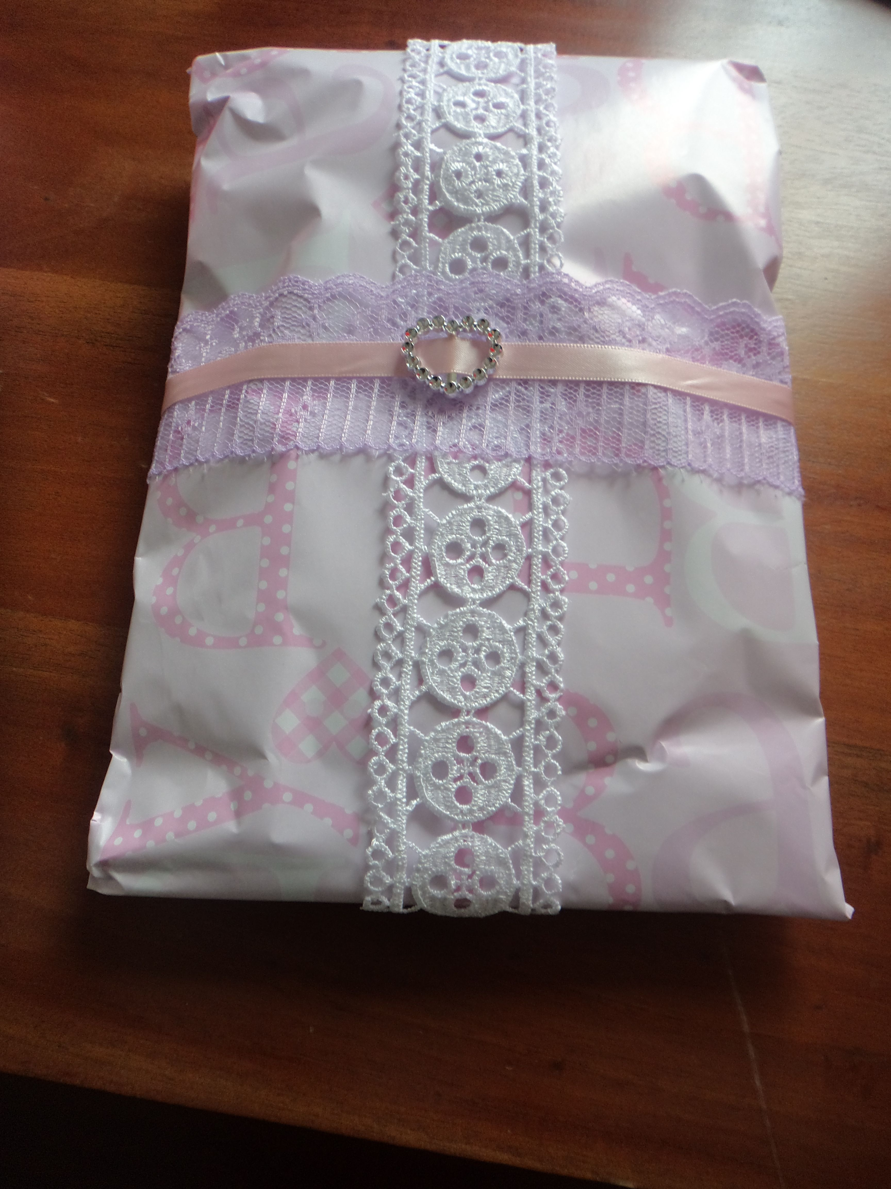 This Present Has Babies Clothes Inside So I Wrapped It With Pink