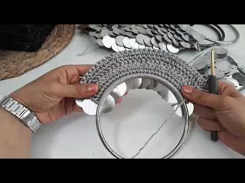 Photo of Pullu el çantası /metal saplı/ bolsa de lantejoulas/construcción de bolsos de lentejuelas