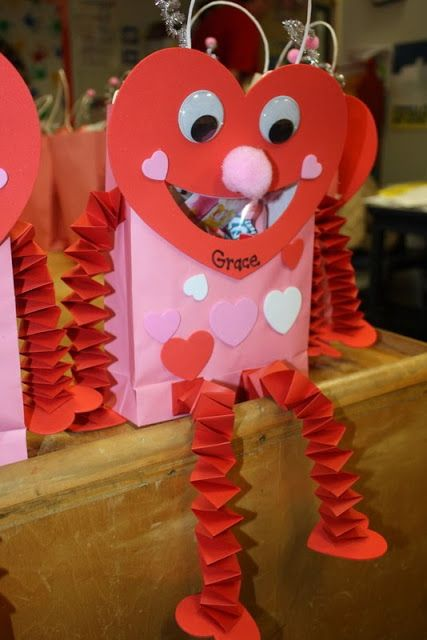 How To Decorate A Valentine Box Simple A Cute Idea For Valentine's Treat Bags  And They Look Super Simple 2018