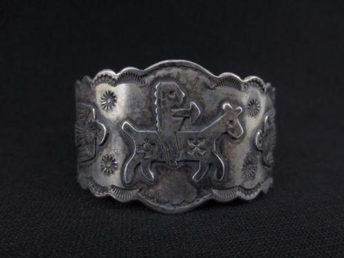 Navajo-Silver-Bracelet-Fred-Harvey-Era