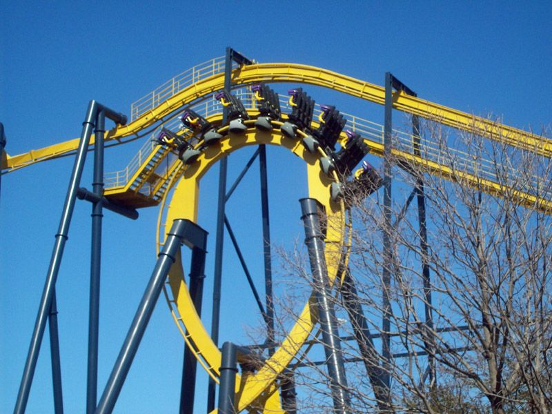 Batman The Ride Six Flags Over Texas Arlington Texas Usa Six Flags Over Texas Six Flags Roller Coaster