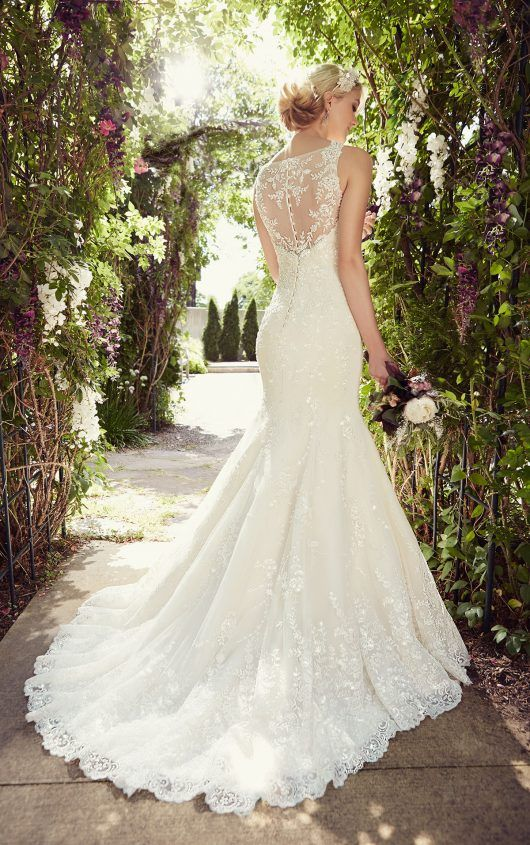 Mermaid Wedding Dress by | Organza wedding dresses, Wedding dress ...
