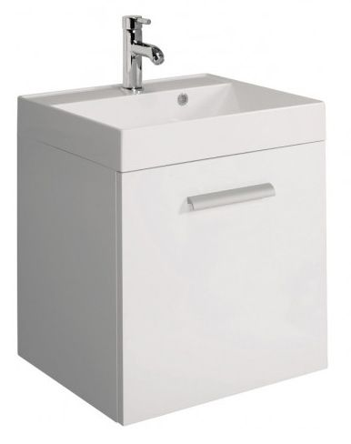 Bauhaus Design White 50 Single Drawer Basin Unit