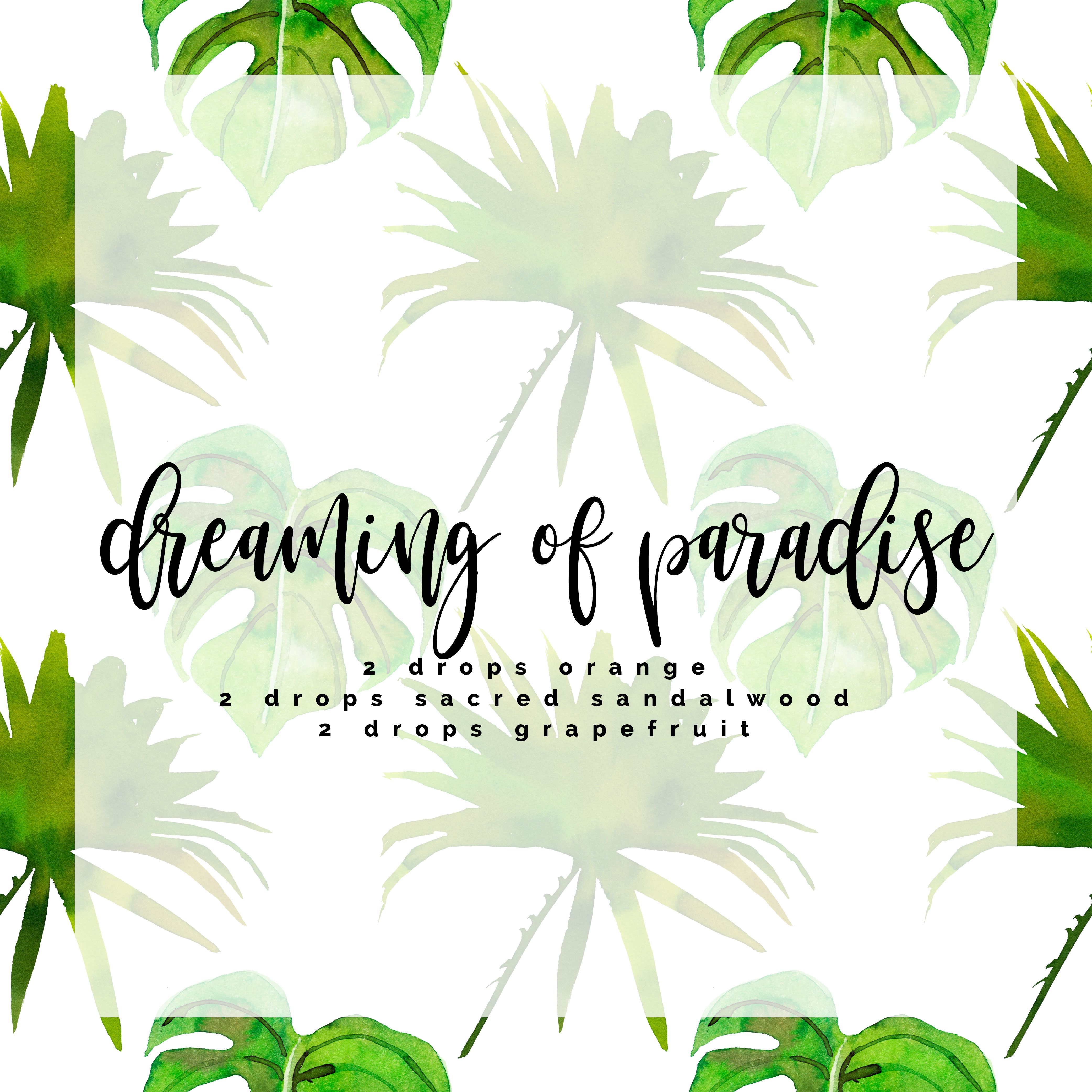 Summer Diffuser Blend Dreaming Of Paradise Pina Colada In Hand