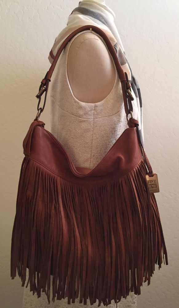 78c081637c Frye  Heidi  Fringe Hobo Bag Color Whiskey  Frye  Hobo
