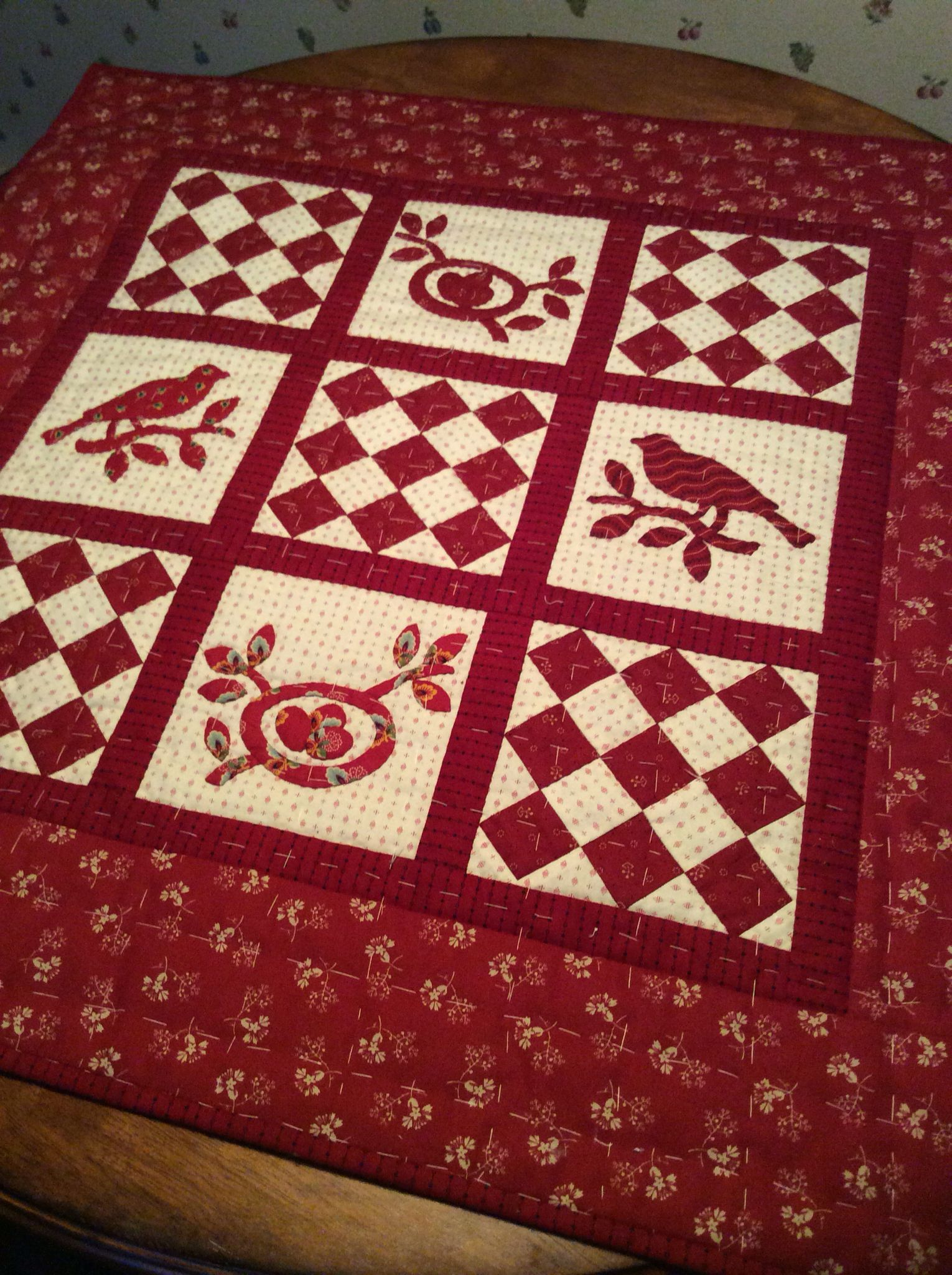 i am working on my jo morton quilt from her through the seasons book