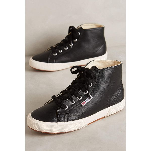 superga leather high top sneakers 159 liked on polyvore
