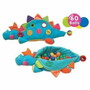 K'S KIDS Grand Dino d'Activité + 60 Balles Bleu - Achat / Vente tapis éveil - aire bébé 3517132217444 - Soldes * Cdiscount