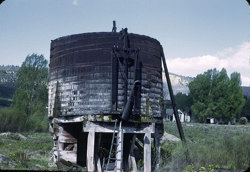 Water tank at Ridgway in 1950. Photo by William F. Hellgren. : water storage tanks colorado  - Aquiesqueretaro.Com