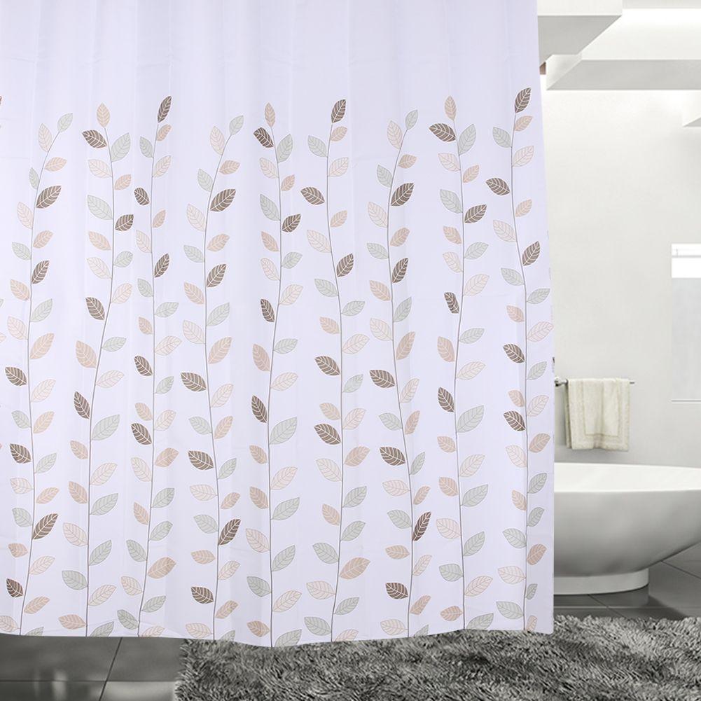180*180cm Flower Print Bathroom Waterproof Polyester Shower Curtain ...
