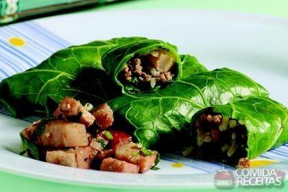 Receita de Charuto de arroz e bacon em receitas de salgados, veja essa e outras receitas aqui!