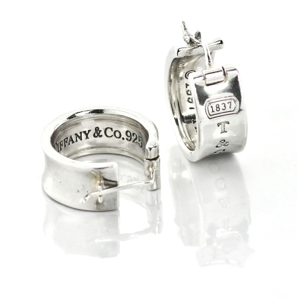 632aac0fd Tiffany & Co. 1837 Wide Hoop Earrings in 925 Sterling Silver #TiffanyCo # Hoop