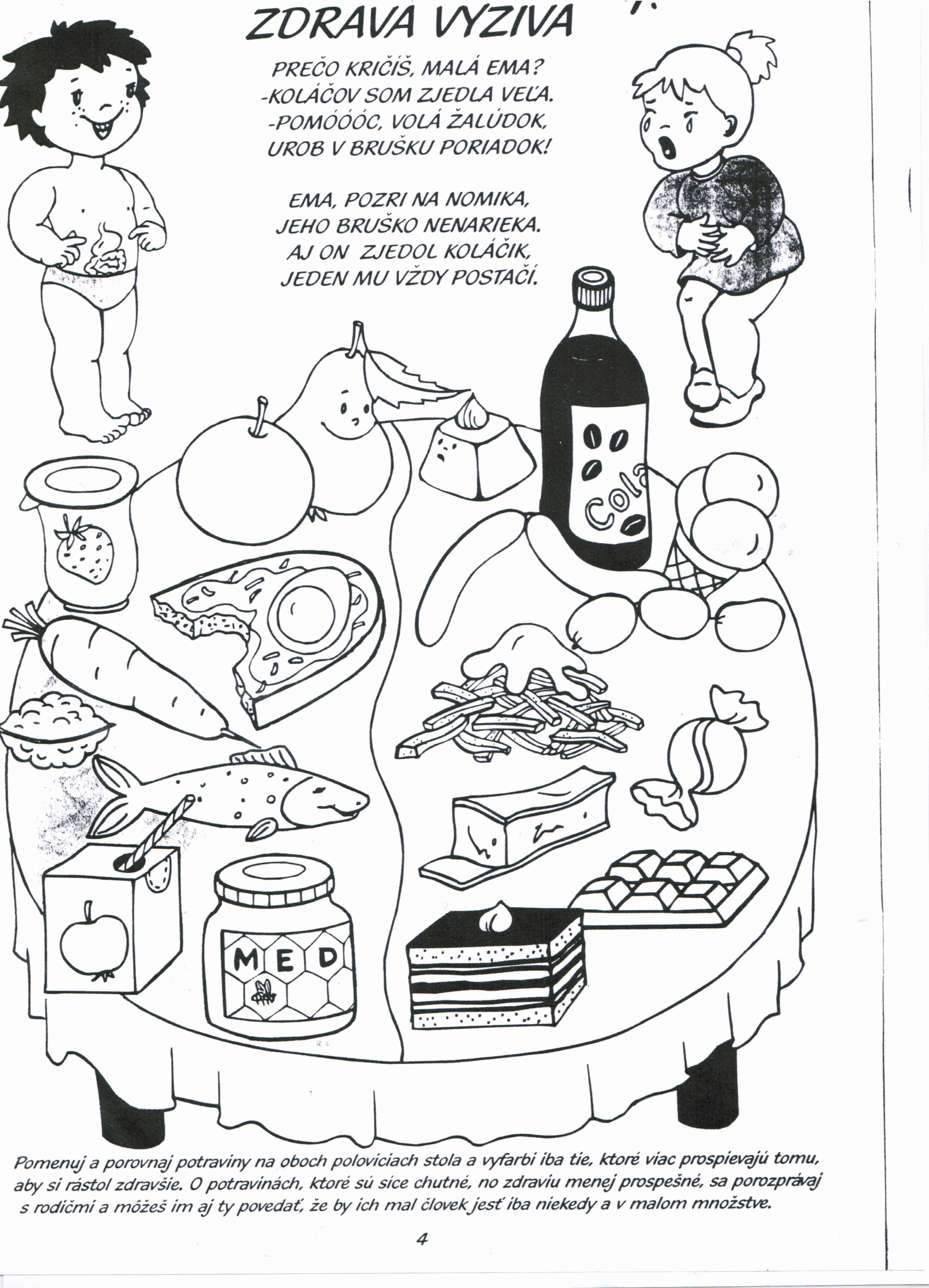 Nutrition Coloring Activities In With Images