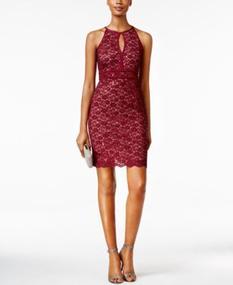 Nightway Petite Glitter Lace Bodycon Dress Moda