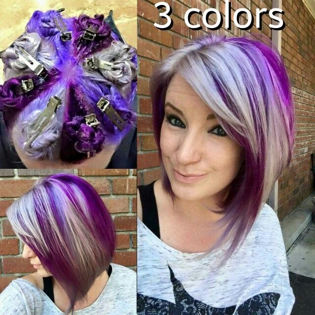 88c5bdd2d1896e06e0a63c5e70e049df Jpg 640 640 Hair Color Techniques Pinwheel Hair Color Hair Color Purple