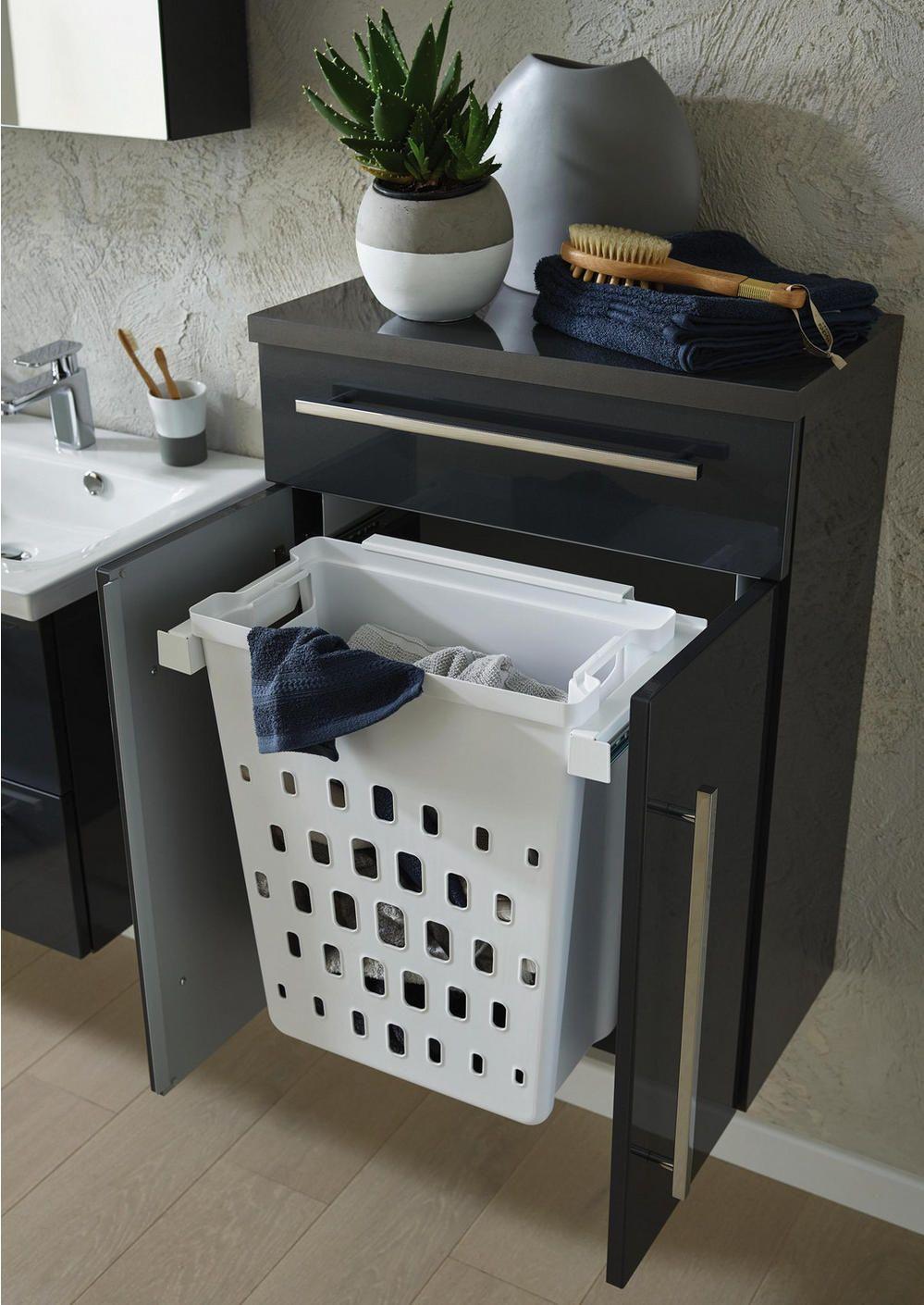 Seitenschrank Schwarz Wascheauszug Hier Bestellen Badezimmer Planen Bad Einrichten Waschekorb Schrank