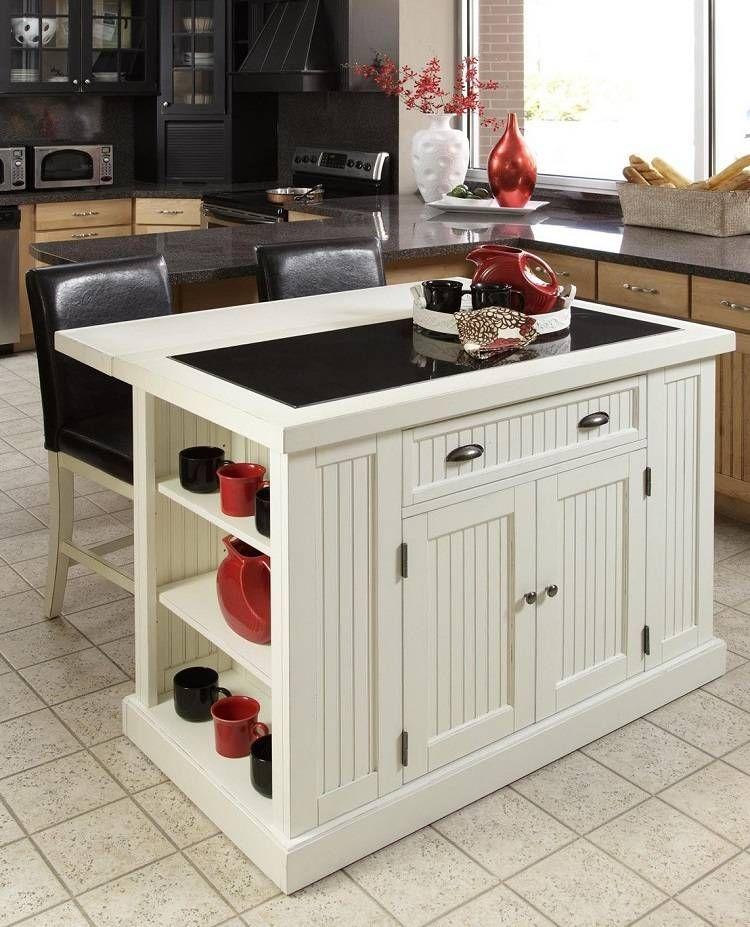 Petite cuisine avec lot central oui voil 28 exemples accessoires rouge - Cuisine avec ilot centrale ...