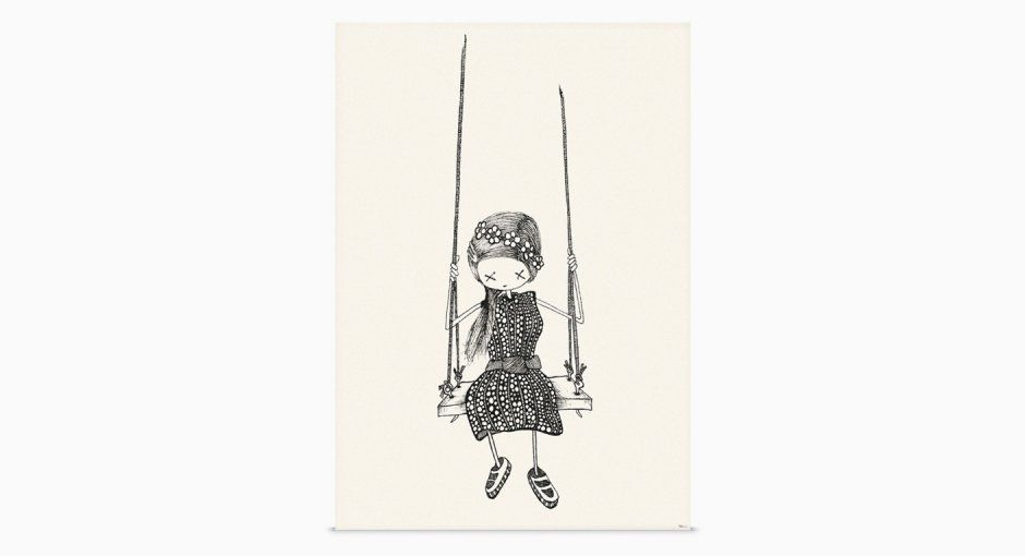 Girl on A Swing @ shop-rikiki.de