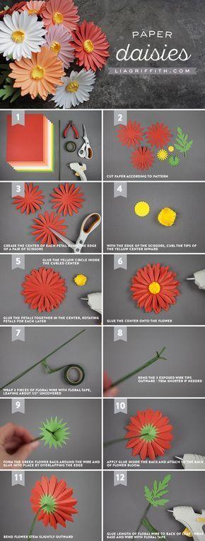Simple Paper Chick Craft: Flores De E V A - Flores De Papel