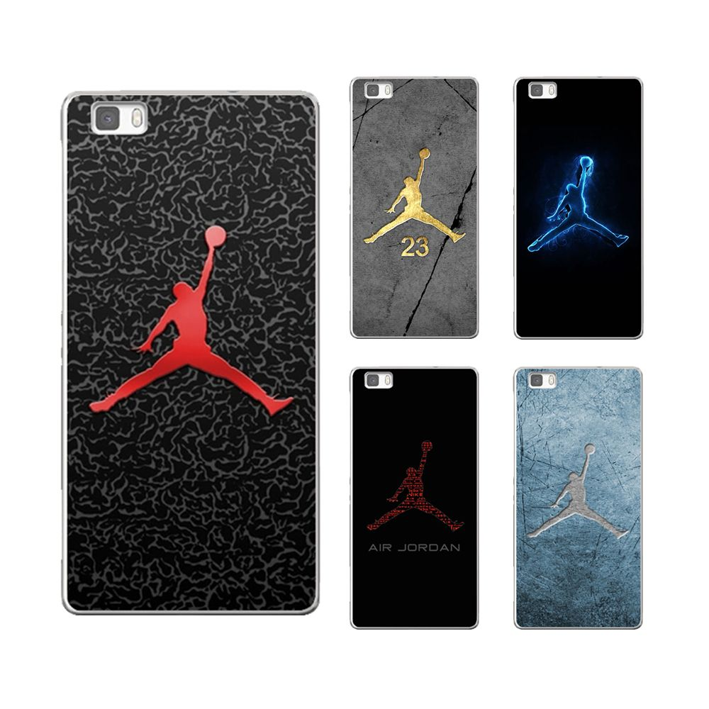 special section factory outlet great fit Silicone No. 23 Jordan Logo soft TPU cover for huawei P8 P9 ...