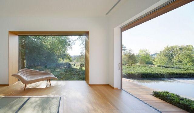 landhaus interieur modern schlicht minimalistisch look sofa - wohnzimmer modern landhaus