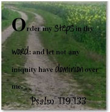 Prayer; Psalm 119:133