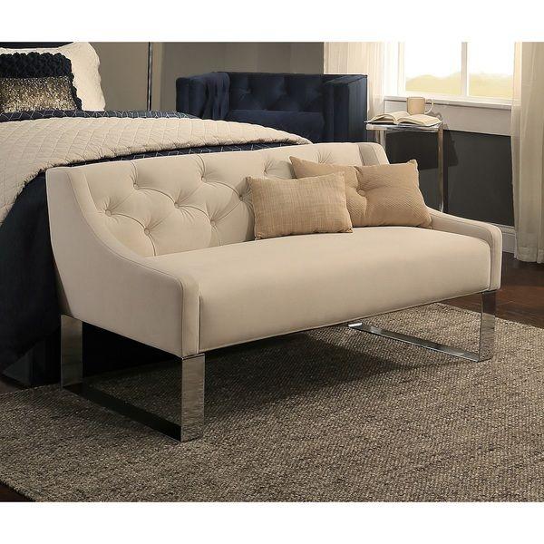 Republic Design House Deep Button Tufted Sofa Bench | Upholstery ...