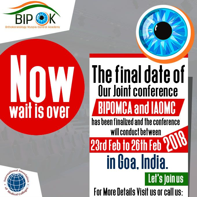 Now wait is over, the final date of our Joint conference #BIPOMCA and  #IAOMC has been finalized and the conference will conduct between 23rd Feb  to 26th Feb ...
