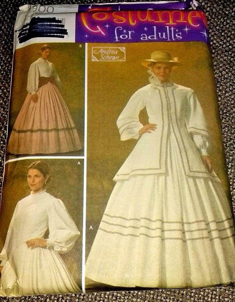a2e2d6dc8ff Simplicity Costume 4900 Civil War Reenactment Day Riding Dress Plus Size  10-18