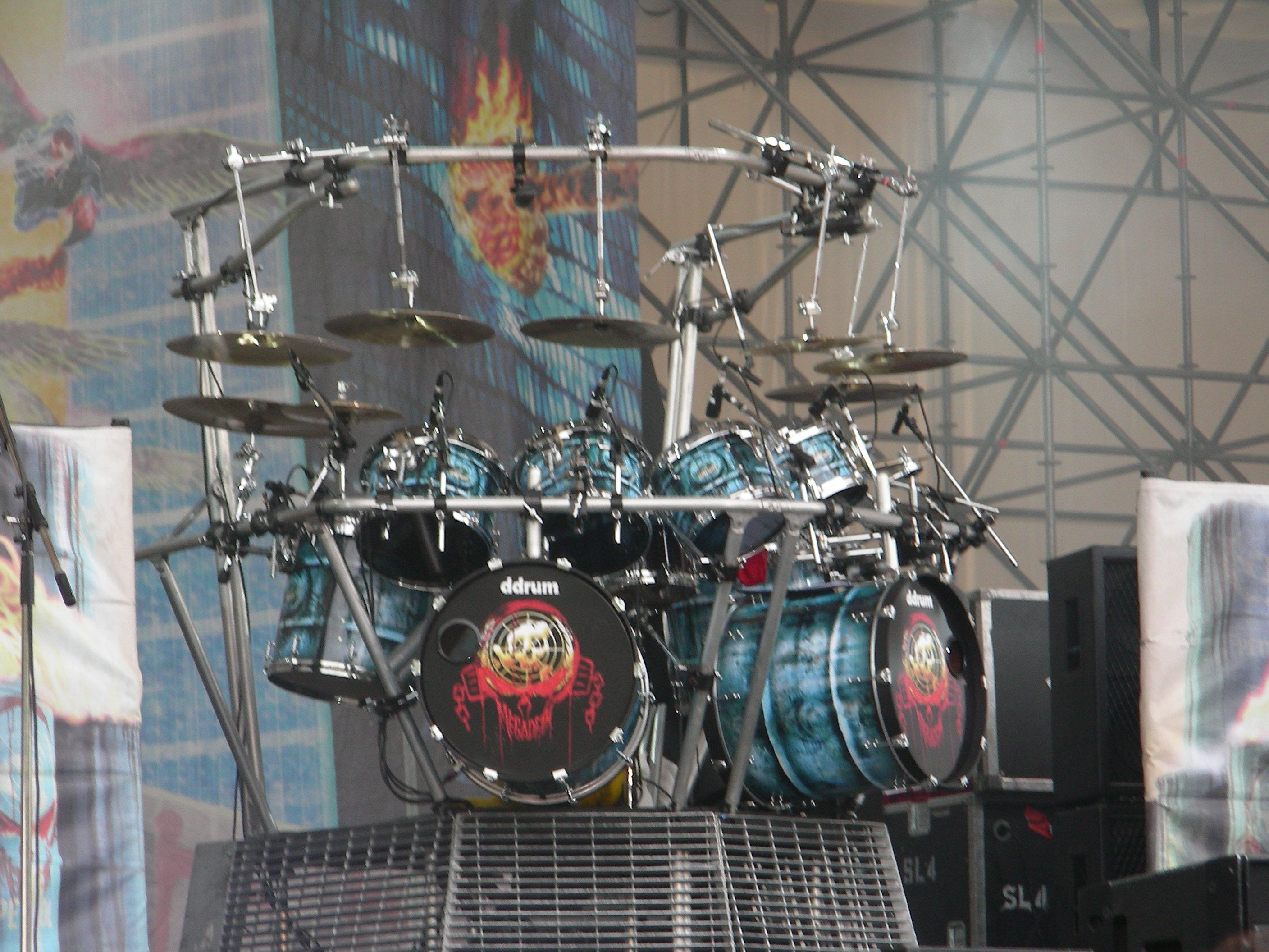 Megadeth Drum Set Up Megadeth Sliding Barn Door