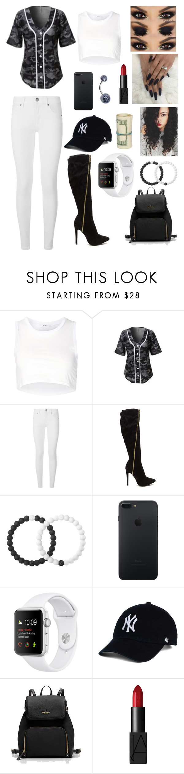 """Untitled #316"" by brie-karitsa-luciano on Polyvore featuring Julien David, LE3NO, Burberry, Lokai and NARS Cosmetics"