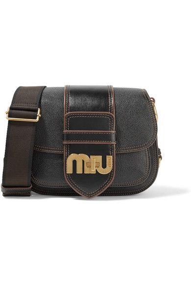 e9d89b9511 MIU MIU Dahlia Smooth And Textured-Leather Shoulder Bag.  miumiu  bags  shoulder  bags  leather