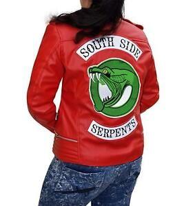 44341f5ccd  southsideserpentsjacket  riverdalejacket  redwomenjacket Biker Leather