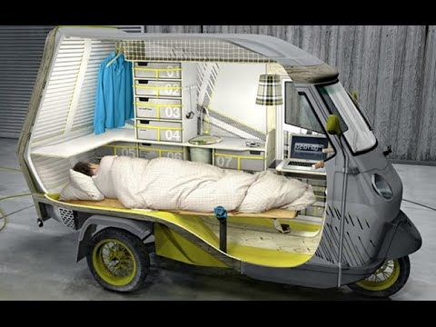 vespa mini caravan bufalino camper home build car bike. Black Bedroom Furniture Sets. Home Design Ideas