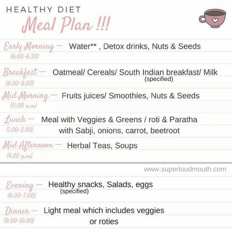 the perfect balanced diet plan