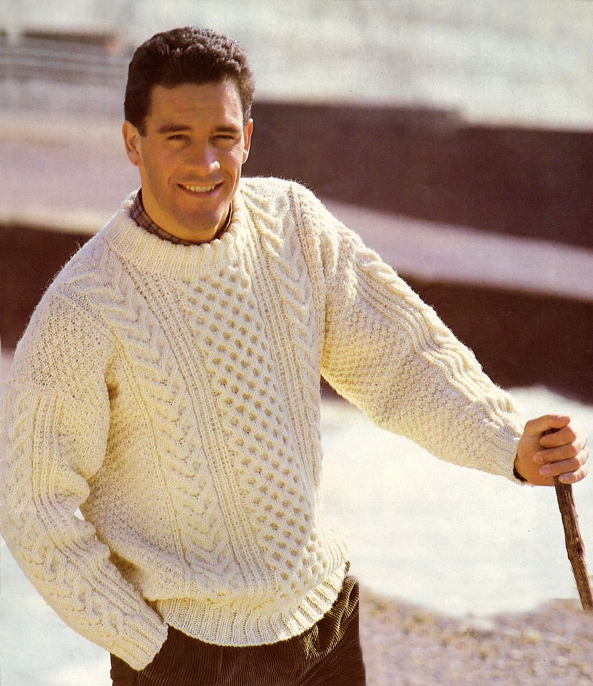 Classic aran sweater knitting pattern this stylish sweater is for classic aran sweater knitting pattern this stylish sweater is for sizes 38 to 48 inches bankloansurffo Gallery