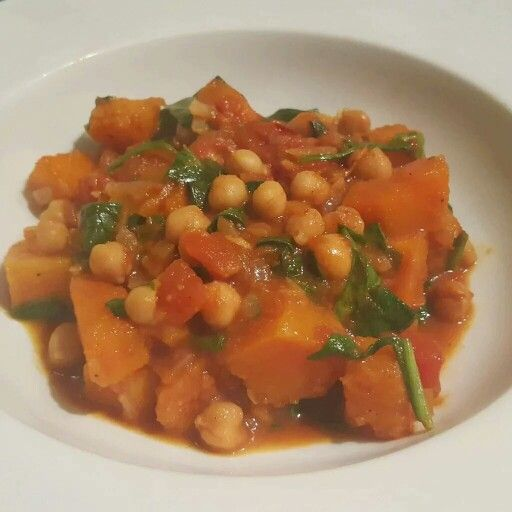 Spice up your day with this delicious squash, chickpea and spinach curry. Get the recipe here: http://wp.me/p4O5jd-qv