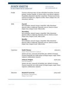 Percuma Muat Turun Resume Template Microsoft Word?