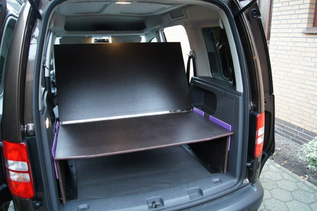 selbstbau bett f r vw caddy caddy. Black Bedroom Furniture Sets. Home Design Ideas