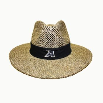 b7d333ce274cf Nike® Summer Straw Hat 100% Seagrass Straw. Black band wrapped around with