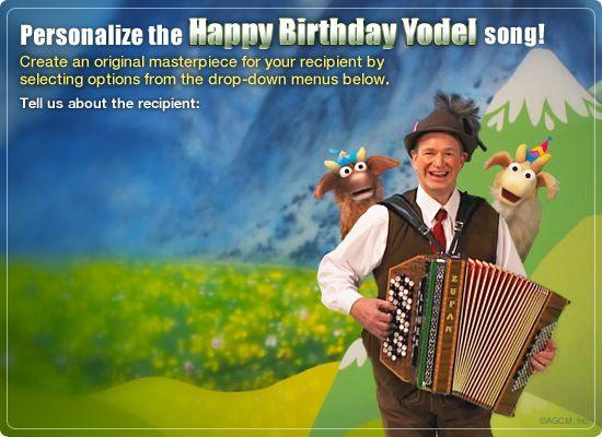 Birthday Ecards American Greetings ~ Ecard birthday yodel video ecard personalized lyrics happy